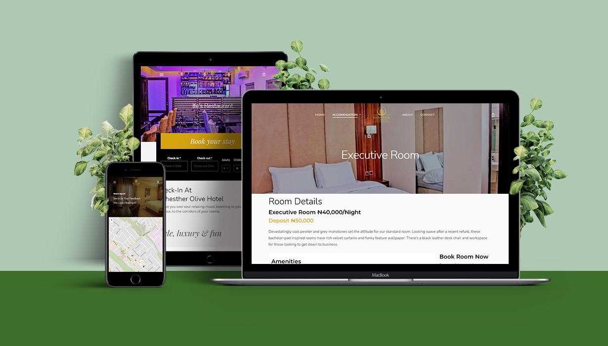 joshesther olive hotel website model